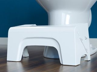 7  Fold N Stow Foldable Toilet Stool White   Squatty Potty