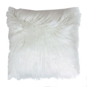 Thro by Marlo lorenz Keller Reversible Faux Mongolian Square Pillow with Micromink Back