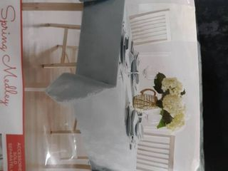 Spring Medley Reversable Damask Tablecloth 60 In X 104 In Oblong Color Mint