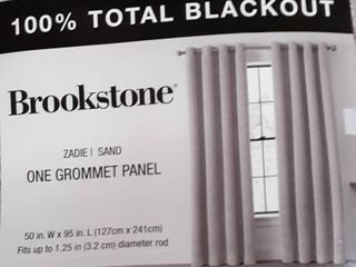Brookstone Zadie Grommet 100  Blackout Window Curtain Panel