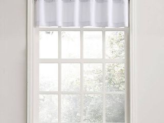 No  918 Nathan Grommet Textured Kitchen Curtain Valance