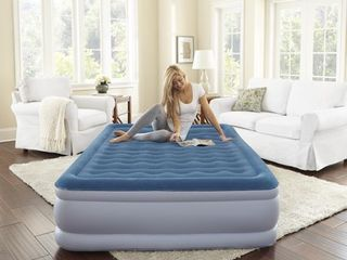 Beautyrest Silver Extraordinaire Raised Air Mattress with iFlex Support   Hybrid Pump  Multiple Sizes  1 Each