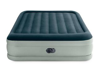 Intex Elevated 18  Premium Comfort Queen Air Mattress with Internal Pump