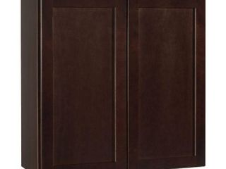 Hampton Bay Shaker Assembled 30x30x12 in  Wall Kitchen Cabinet in Java Retail Price  170