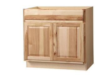 36x34 5x24 in  Hampton Accessible Sink Base Cabinet in Natural Hickory unfinished Retail Price  254