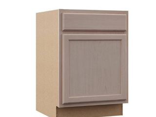 Hampton Bay Hampton Assembled 24x34 5x24 in  Base Kitchen Cabinet in Unfinished Beech
