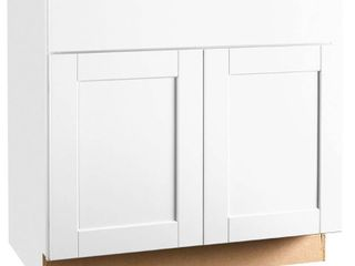 RSI HOME PRODUCTS SHAKER BASE CABINET  WHITE  36 IN Retail Price  245