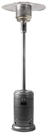 AmazonBasics Commercial Propane 46 000 BTU Outdoor Patio Heater Slate Grey