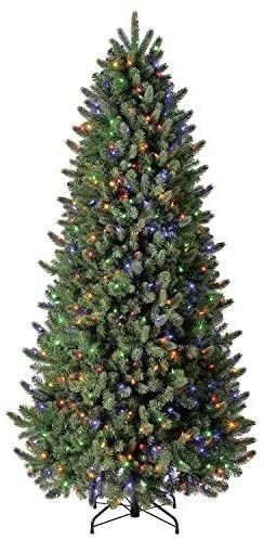 Evergreen Classics 7 5 Ft Pre lit Vermont Spruce Quick Set Artificial