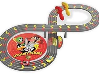 Micro Scalextric My First looney Tunes Bugs Bunny vs Daffy Duck Battery Powered 1 64 Slot Car Race Track Set G1141T  Yellow   Red