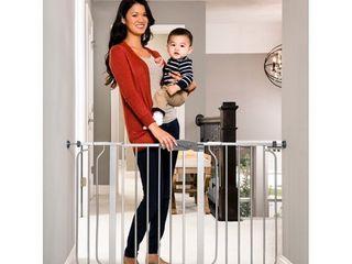 Regalo Extra Wide Easy Step Metal Walk Through Baby Gate   Platinum