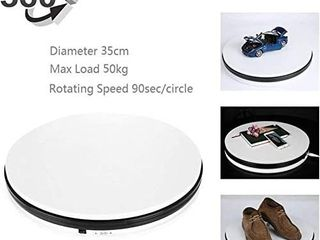 Motorized Turntable Display  360 Degree Electric Rotating Display Turntable for Display Jewelry  Watch  Digital Product  Shampoo  Glass  Bag  Models  Diecast  Jewelry and Collectibles