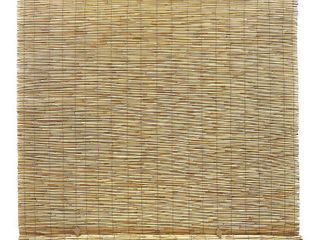 Radiance 5  x 6  Cord Free Peeled and Polished Reed Roll Up Outdoor Sun Shade  Natural