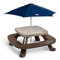 little Tikes Fold  n Store Picnic Table with Market Umbrella