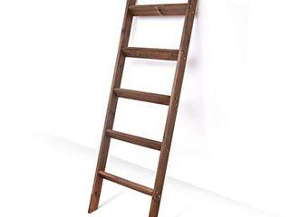Blanket ladder 5 ft  Wood Rustic Decorative Quilt ladder  Brown Vintage Wooden Decor  Throw Blankets Holder Rack  Brown