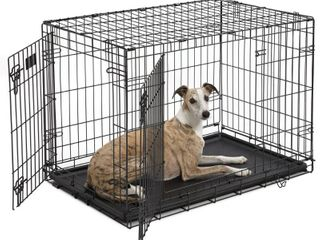 Midwest iCrate Double Door Folding Metal Dog Crate  36 Inches by 23 Inches by 25 Inches