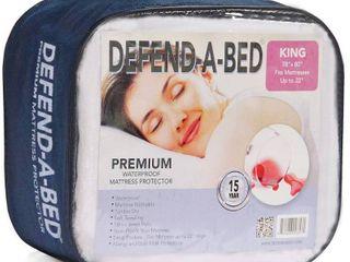 Defend A Bed Premium Waterproof Mattress Pad  King Size