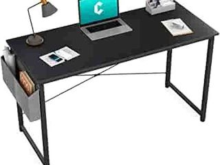 Cubiker Computer Desk 40 inch Home Office Writing Study Desk  Modern Simple Style laptop Table with Storage Bag  Black