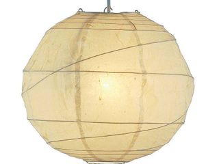 Adesso Orb large Pendant  Natural Shade