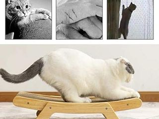 ZAMATE Cat Scratching Board  Corrugated Cat Scratcher Cardboard for Furniture Protection  Reusable Cats Scratching Pad lounge Durable Toy