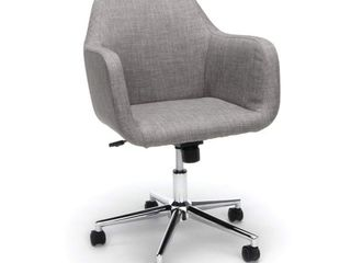 Essentials by OFM ESS 2085 Upholstered Home Office Desk Chair  Gray