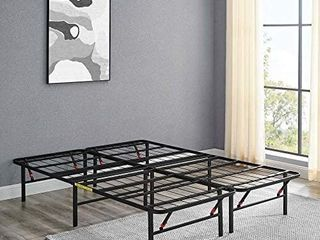 AmazonBasics Foldable  14  Metal Platform Bed Frame Tool Free Assembly Queen