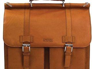 Kenneth Cole Reaction R Tech leather Dowel Rod laptop Computer Case