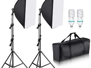 Neewer 700W Professional Photography 24x24 inches 60x60 Centimeters Softbox with E27 Socket light lighting Kit