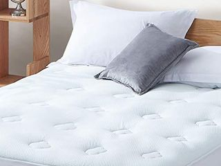 Hansleep Gel Memory Foam Mattress Pad King  Bamboo Mattress Pad Fluffy Mattress Protector with Deep Pocket  Breathable Cooling Air Mattress Topper Cover  78x80 Inches
