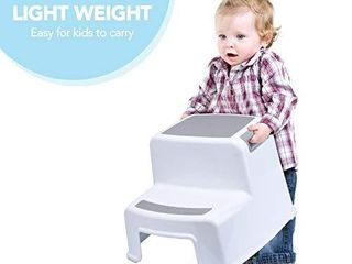 ACKO Step Stool for Kids 2pcs with 1 Potty Training Toilet Seat Kids Step Stool with Potty Seat Toddler Stool for Toilet Potty Training Potty Training Seat with ladder for Boy