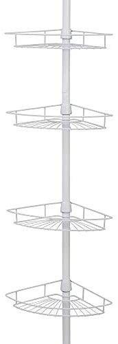 Zenna Home 2156WW Pole Shower Caddy White
