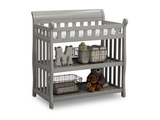 Delta Children Eclipse Changing Table with Pad  Grey