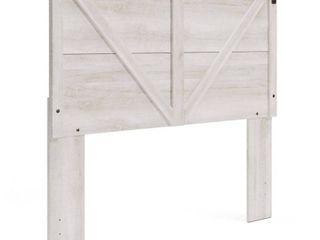 Queen Shawburn Panel Headboard White Dark Gray   Signature Design by Ashley