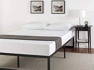 Abel 14 Inch Metal Platform Bed Frame with Steel Slat Support  Mattress