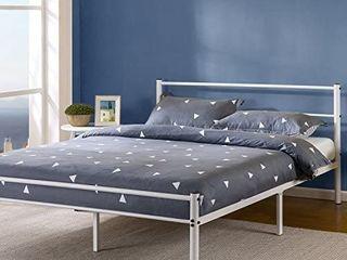 Zinus Geraldine 12 Inch White Metal Platform Bed Frame With Headboard And Foo