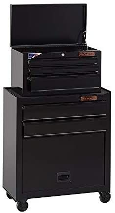 beyond by BlACK DECKER Tool Chest   Tool Cabinet  26 Inch  Steel  5 Drawers  Ball Bearing  BDST98376BKAEV