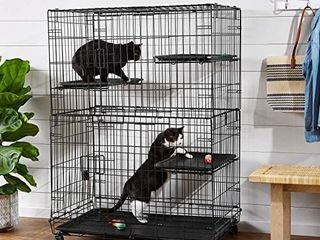 Amazonbasics large 3 tier Cat Cage Playpen Box Crate Kennel   36 X 22 X 51