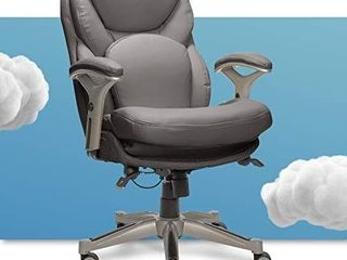 Serta Ergonomic Executive Office Chair Motion Technology Adjustable Mid Back Design with lumbar Support  Gray Bonded leather