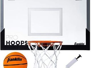 Franklin Sports Over The Door Basketball Hoop   Slam Dunk Approved   Shatter Resistant   Accessories Included