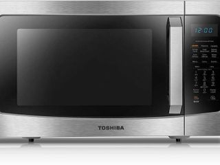 Toshiba Ml EC42P BS  Microwave Oven with Healthy Air Fry  Smart Sensor  Easy to Clean Interior and ECO Mode  1 5 Cu ft  Black Stainless Steel