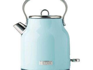 Haden Heritage 1 7 liter Stainless Steel Body Retro Electric Kettle  Turquoise  Retail  89 99