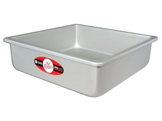 Fat Daddio s Anodized Aluminum Square Cake Pan w  Solid Bottom  12 x 12 x 3 Inch  Retail  38 99