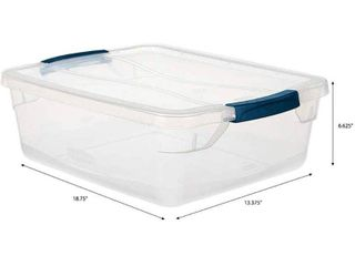 Rubbermaid Cleverstore 16 Quart Plastic Storage Tote Container with lid  Retail  15 83