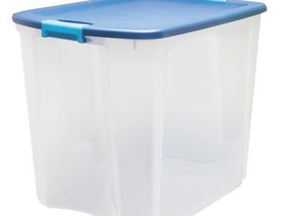 Sterilite 14489604 26 Gallon latch and Carry Storage Tote Box Container  Navy  Retail  60 00