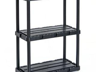 Gracious living Knect A Shelf light Duty Fixed Storage 3 Shelf Shelving Unit  Retail  66 99