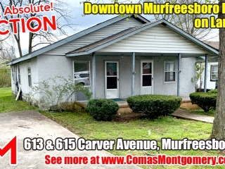 SELLING ABSOLUTE! Downtown Murfreesboro Duplex on Large Lot - April 22nd Auction