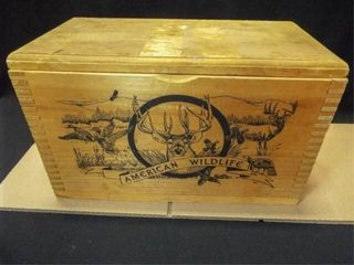 American Wildlife Wood Box