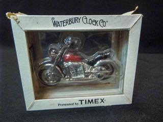 Timex Waterbury Motorcycle Clock in box