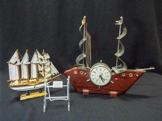 United Ship Clock  Wood Ship