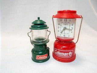 Coleman Clock  Coleman Avon Bottle